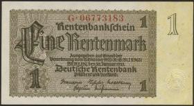 R.166c: 1 Rentenmark 1937 Firmendruck (1)