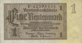 R.166F: 1 Rentenmark 1937 braune Knr. (1-)