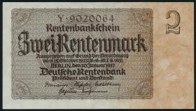 R.167aF: 2 Rentenmark 1937 7-stellig (2)