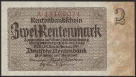 R.167b: 2 Rentenmark 1937 Reichsdruck (1)