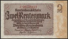 R.167c: 2 Rentenmark 1937 Firmendruck (1)