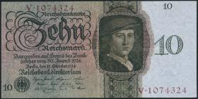 R.168a: 10 Reichsmark 1924 U/V (2)