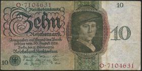 R.168a: 10 Reichsmark 1924 G/O (3-)