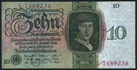 R.168a: 10 Reichsmark 1924 G/L (2)