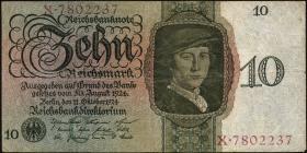 R.168a: 10 Reichsmark 1924 C/X (3)