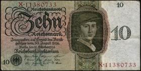 R.168a: 10 Reichsmark 1924 K/X (3)
