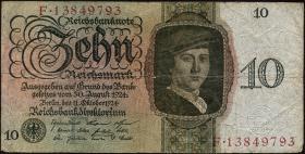 R.168a: 10 Reichsmark 1924 F/F (4)