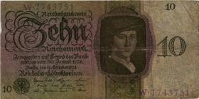 R.168a: 10 Reichsmark 1924 C/W (5)