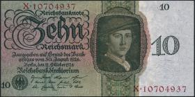 R.168b: 10 Reichsmark 1924 K/X (2/1)
