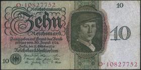 R.168b: 10 Reichsmark 1924 A/O (3)