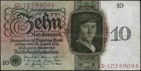 R.168b: 10 Reichsmark 1924 A/Q (3)