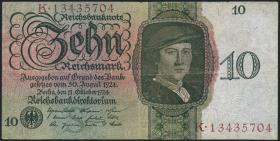 R.168b: 10 Reichsmark 1924 S/K (3)