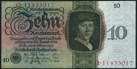 R.168b: 10 Reichsmark 1924 A/Q (2)