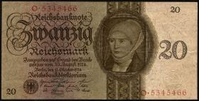 R.169: 20 Reichsmark 1924 Z/O (3+)