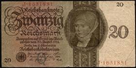 R.169: 20 Reichsmark 1924 Q/J (3)