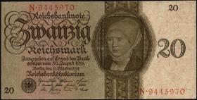 R.169: 20 Reichsmark 1924 P/N (3)
