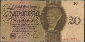 R.169: 20 Reichsmark 1924 E/F (3)