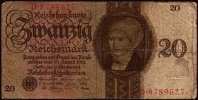 R.169: 20 Reichsmark 1924  E/D (4)