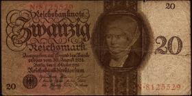 R.169: 20 Reichsmark 1924  W/N (4)