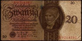 R.169: 20 Reichsmark 1924  A/A (4)