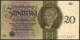 R.169: 20 Reichsmark 1924 Z/Q (2+)