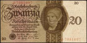 R.169: 20 Reichsmark 1924 W/J (3)