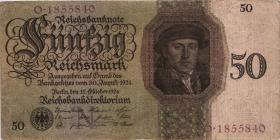 R.170a: 50 Reichsmark 1924 N/O (3)