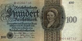 R.171a: 100 Reichsmark 1924 B/D (3/2)