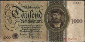 R.172a: 1000 Reichsmark 1924 R/A (3-)