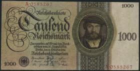 R.172a: 1000 Reichsmark 1924 R/A (3+)