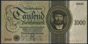 R.172a: 1000 Reichsmark 1924 R/A (2+)