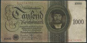 R.172a: 1000 Reichsmark 1924 T/A (3-)