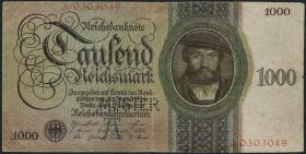 R.172M: 1000 Reichsmark 1924 A/A MUSTER (3-)