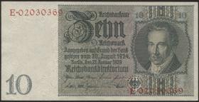 R.173c: 10 Reichsmark 1929 Kriegsdruck (1)