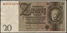 R.174c: 20 Reichsmark 1929 Kriegsdruck (1-)