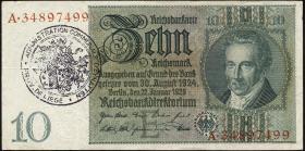 R.173d: 10 Reichsmark 1929 mit bel. Gemeindestempel (3)