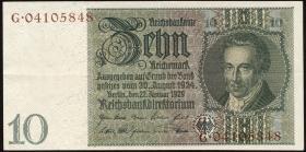 R.173F: 10 Reichsmark 1929 braune KN (2)