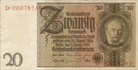 R.174c: 20 Reichsmark 1929 Kriegsdruck (1)