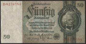 R.175a: 50 Reichsmark 1933 7-stellig (2+)