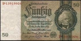 R.175b: 50 Reichsmark 1933 (8-stellig) 1)