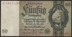 R.175b: 50 Reichsmark 1933 8-stellig (2+)