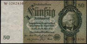 R.175F: 50 Reichsmark 1933 braune Knr. (2+)