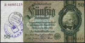 R.175g: 50 Reichsmark 1933 Luxemburger Post- und Gemeindestempel (3)