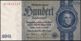 R.176c: 100 Reichsmark 1935 Liebig Kriegsdruck(1-)