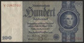 R.176b: 100 Reichsmark 1935 Liebig (1-)