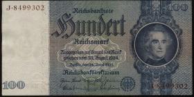 R.176F: 100 Reichsmark 1935 (2) braune Kennnummer
