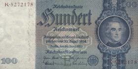 R.176F: 100 Reichsmark 1935 Liebig (1) braune Kennnummer