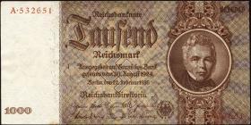R.177: 1000 Reichsmark 1936 Schinkel (2-)