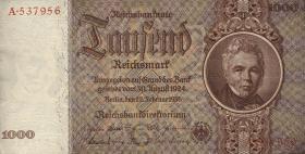 R.177: 1000 Reichsmark 1936 Schinkel (2+)