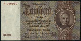 R.177M: 1000 Reichsmark 1936 Schinkel MUSTER (3+)